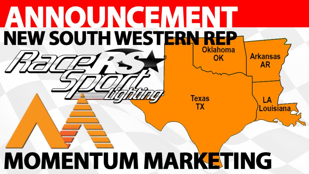 Race Sport Lighting® Announces Momentum Marketing as South Western Rep