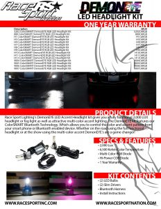 DemonEYE ColorSMART LED Headlight Kit