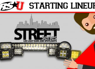 Street Series LED light bars and spotlights