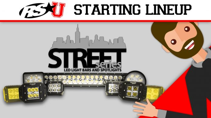 Street Series LED light bars and spotlights